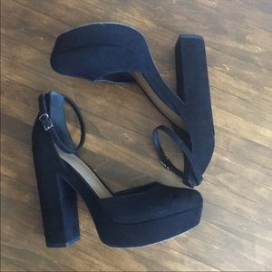asos platform suede ankle strap Mary Janes